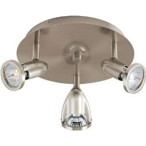 Agron Collection 3 Light 9 Satin Nickel Flush Mount
