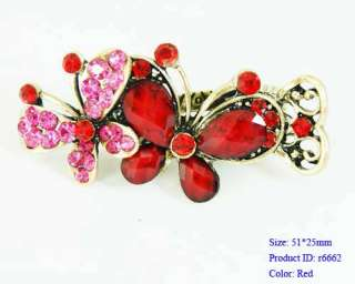 Crystal Butterfly Hair pin Barrette Clip Pin Fashion new Nobby