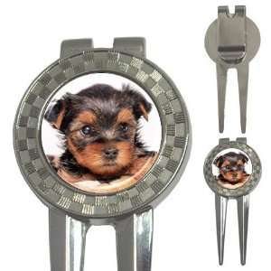 Yorkshire Terrier Puppy Dog 8 Golf 3 in 1 Divot Tool J0655