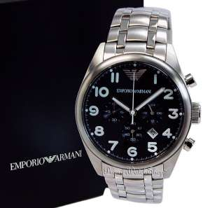 NEW EMPORIO ARMANI SPORT CHRONO AR0508 STEEL MENS CHRONOGRAPH WATCH