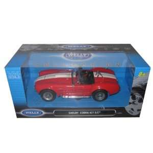 1965 Shelby Cobra 427 Red 124 Diecast Model Car Toys