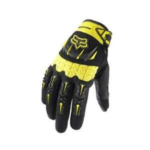 Fox Racing Dirtpaw Full Finger MTB & BMX Gloves   Yellow