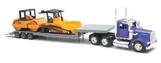 PETERBILT 387 LIVESTOCK SEMI 1/43 NEW RAY BLACK 15463