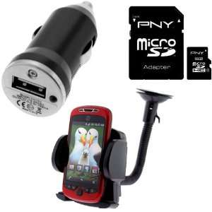 PNY 16GB Micro SDHC Class 4 Memory Card + Car Mount Holder