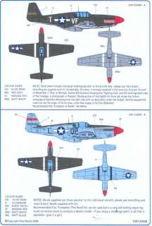 Kits World Decals 1/32 P 51B MUSTANG Fighter 4th Fighter Group