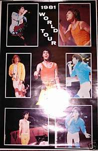 ROLLING STONES 1981 World Tour poster, 22x34, VG+