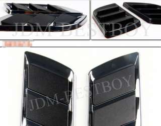 Euro Style Black Vent Car Side Air flow Fender Duct Scoop Grille FOR