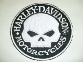 Harley Davidson Motorcycle Classic White Willie G Skull Back Patch 8