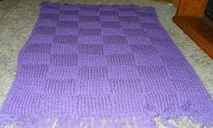 Light Purple Knitted Afghan/Throw Blanket