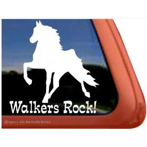 WALKERS ROCK ~ Tennessee Walking Horse Trailer Vinyl Window Decal