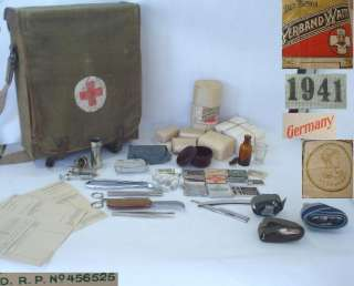 original german ww2 army wehrmacht medic first aid bag made of strong