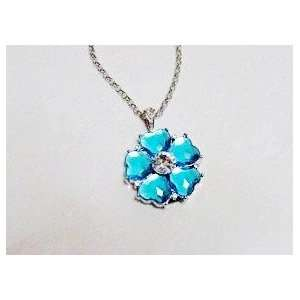 8GB Shiny Crystal Blue Flower Strap Shape USB Flash Drive
