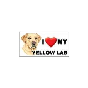 I Love my Yellow Labrador Retriever Dog 8x4 Magnet