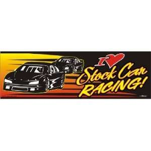 I Love Stock Car Racing Bumper Sticker