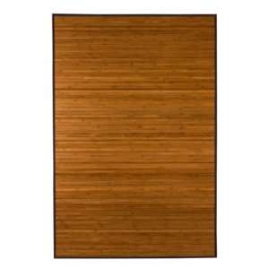 Natural Anji Mountain Bamboo Rug   Dark Brown   rug fb