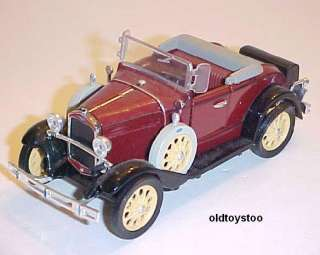 1931 MODEL A FORD CONVERTIBLE RUMBLE SEAT DIECAST 132