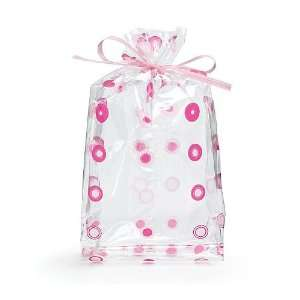 (10) Pink Dots Cello Birthday Party Baby Shower Favor Gift