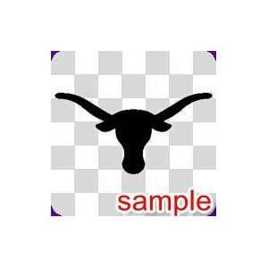 ANIMALS LONGHORN BULL 10 WHITE VINYL DECAL STICKER