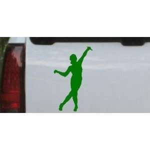 Dancer Silhouettes Car Window Wall Laptop Decal Sticker    Dark Green