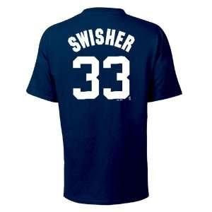 Nick Swisher New York Yankees Name and Number T Shirt, Navy