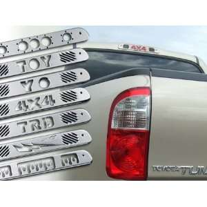 All Sales 74010P Toyota Tundra Aluminum Third Brake Light Covers   4X4