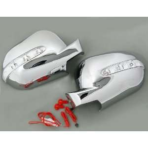 Sporty Custom Look Automotive Chrome Housing Mirror Cover