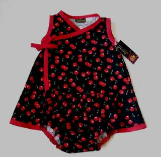 New Moraccan Red black toddler baby girl Punk dress