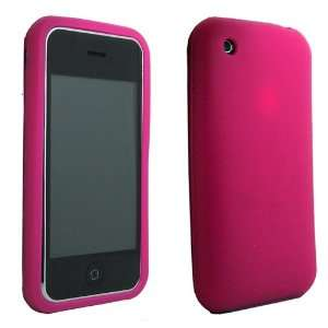 Pink Silicone Soft Skin Case Cover for iPhone 3G 3GS