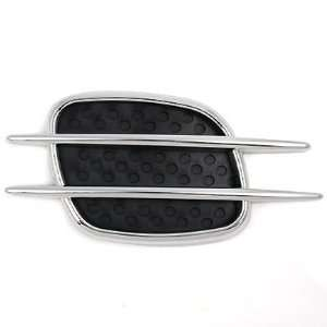 Black Chrome Air Scoop Hood Flow Intake Side Vent Cover Fender Mesh