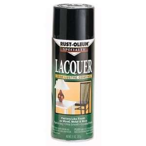 11 Oz Gloss Black Lacquer Spray Paint 1905 830 [Set of 6