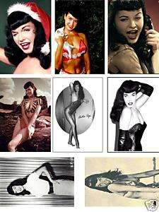 BETTY BETTIE PAGE Images On Magnets   Set 1