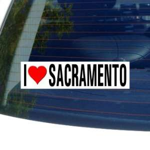 I Love Heart SACRAMENTO   California Window Bumper Sticker
