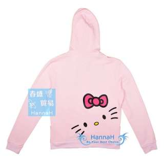 Hello Kitty Girl Woman Clothing Blazers Jackets Coat with hat gift