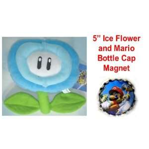 Super Mario Brothers Video Icon 5 Ice Flower Plush Doll with Mario