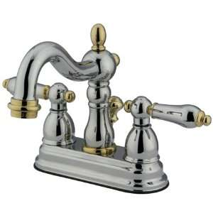 Lavatory Faucet W/Metal Lever Handle Chrome/Polish Brass Finish