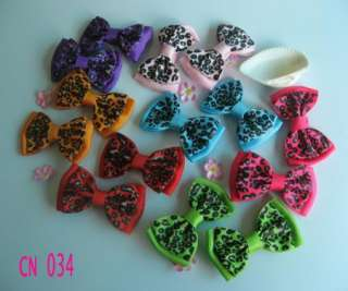7pairs New 2.4 Girls Baby Large strip butterfly Hair Bow Clip flower