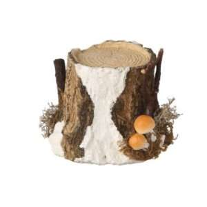 Frosted Tree Trunk Display Stand Christmas Decorations
