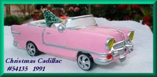 Christmas Cadillac Dept. 56 Snow Village Item #54135. Introduced