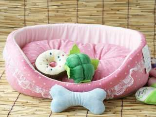 Princess Pink Soft Pet Dog Cat Bed House Sofa S 45x40