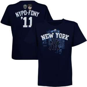 Majestic New York Yankees Youth NYPD FDNY Name and Number