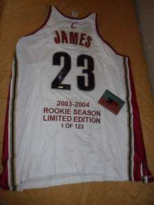 Lebron James Cavs Upper Deck rookie auto jersey w/ COA