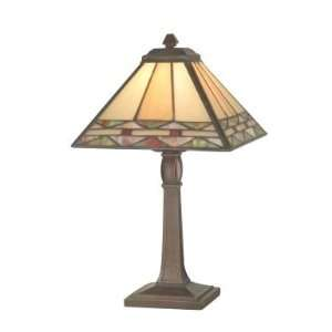 Dale Tiffany Slayter Accent Lamp in Antique Brass Finish