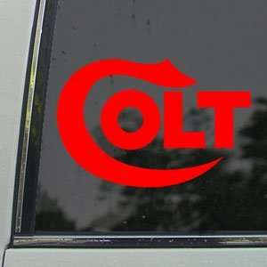 COLT FIREARMS Red Decal Car Truck Bumper Window Red