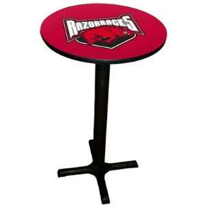 Razorbacks Pub Table with Black Commercial Base