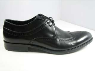 New Mens Real leather shoes Wing Tip Lace Up