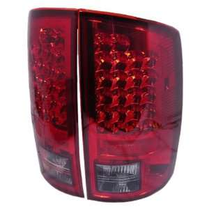 LED RC Red/Clear Medium LED Tail Light for Dodge Ram 02 05   Pair