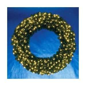 48 Pre Lit Vanderbilt Pine Artificial Christmas Wreath