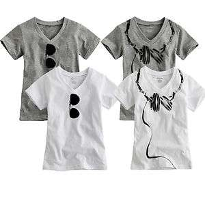 NEW Baby Toddler Kids Boy Girl T Shirt V Neck Dandy