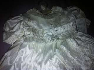 NEW DELUXE baby Girl Baptism Christening dress gown ROPON BOUTIQUE $