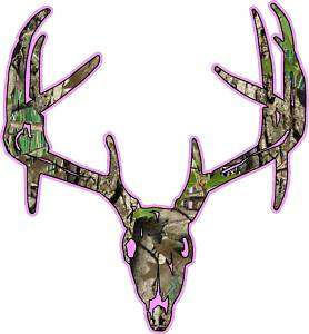 Deer Skull S7 Vinyl Sticker Decal Hunting Buck trophy whitetail bow M